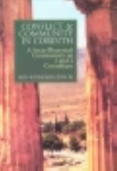 Conflict and community in Corinth - a sociorhetorical commentary on 1 and 2 corinthians