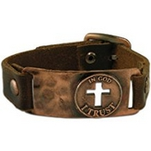 Leather Bracelet In God I Trust